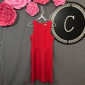 Madewell | Red Keynote Dress High Neck Mini